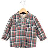 Petit Bateau Boys' Plaid Long Sleeve Jacket