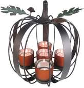 Celebrate Fall Together 5-Light Metal Pumpkin Tealight Candle Holder
