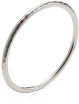 Roberto Coin Large Hammered Silver Bangle Bracelet