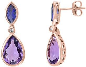 Effy Fine Jewelry 14K Rose Gold 6.09 Ct. Tw. Diamond & Gemstone Earrings