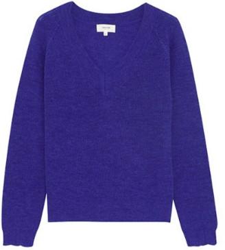 Grace & Mila - V Neck Sweater Blue - Small