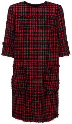 Dolce & Gabbana Tweed A-Line Mini Dress
