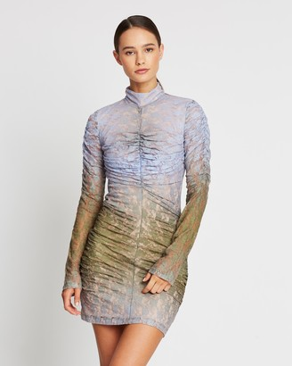 House of Holland Muted Ombre Lace Mini Dress
