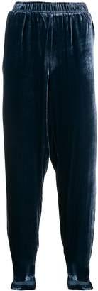 Gold Hawk asymmetric hem cropped trousers