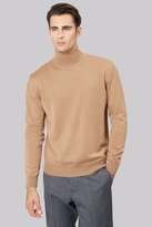 Moss Bros Camel Roll Neck Jumper