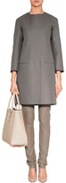 Jil Sander Grey Collarless Cotton Coat