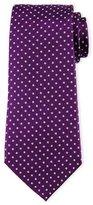 Armani Collezioni Neat Circle-Dot Printed Tie, Purple