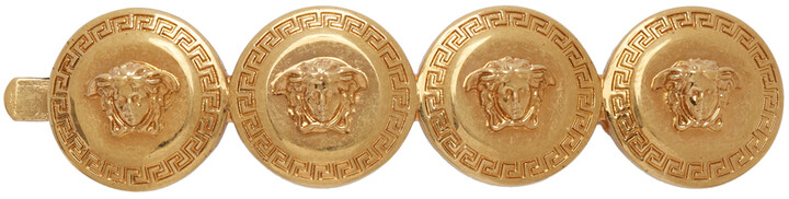 Thumbnail for your product : Versace Gold Medusa Tribute Hair Clip