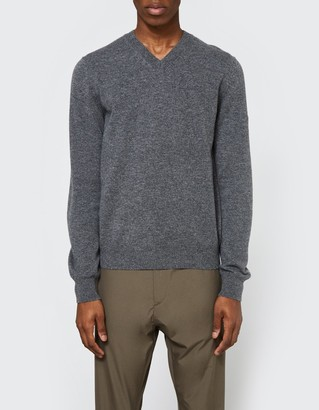 Comme des Garcons Play V-Neck Pullover in Grey