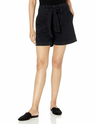 "The Drop Women's Brett Paperbag High-Waist Tie-Front Denim Short - 4"" Inseam"