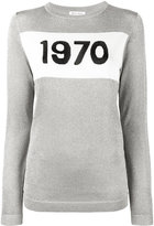 Bella Freud 1970 silver knitted jumper - women - Nylon/Viscose/Metallic Fibre - XS