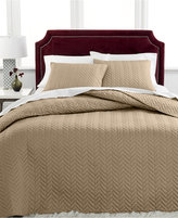 Charter Club Damask Collection Herringbone Pima Cotton 3-Pc Full Quilted Bedspread Set