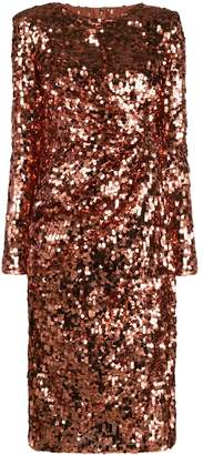 Dolce & Gabbana fitted sequin-embellished dress