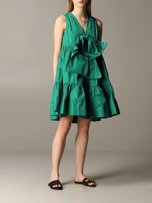 MSGM Dress With Maxi Bow