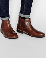 Red Tape Leather Chelsea Boots - Brown