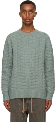 Nanushka Green Cable Virote Sweater