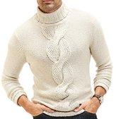 Nautica Men's Cable Turtle Neck Sweater