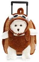 Infant Popatu 'Aviator Bear' Rolling Backpack - Brown
