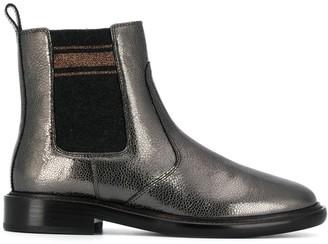Brunello Cucinelli Metallic Chelsea Boots