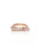 Irregular Diamond Bar Ring