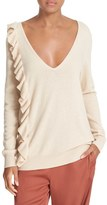 Elizabeth and James Odell Knit Ruffle Sweater