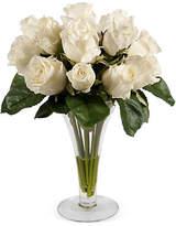 """Winward Silks 14"""" Roses in Trumpet Vase - Faux"""