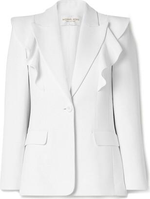 Michael Kors Collection Ruffled Crepe Blazer