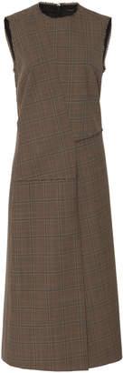 Joseph Darley Front Slit Glen Plaid Dress