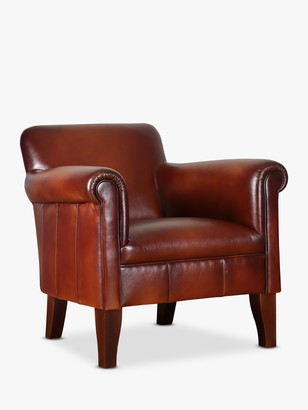 John Lewis & Partners Camford II Leather Armchair, Dark Leg, Hand Antique Leather