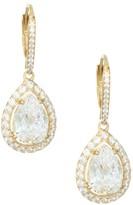 Adriana Orsini 18K Goldplated Sterling Silver Framed Pear Earrings