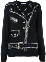 Moschino biker jacket jumper