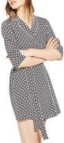 Topshop Petite Women's Geo Tile Wrap Shirtdress