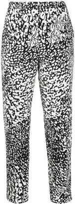 Escada Tapered Abstract Pattern Trousers