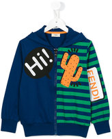 Fendi striped hoodie - kids - Cotton - 4 yrs