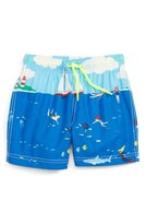 Toddler Boy's Mini Boden Bathers Graphic Swim Trunks