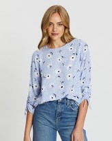 Dorothy Perkins Daisy Ruched 3/4 Top
