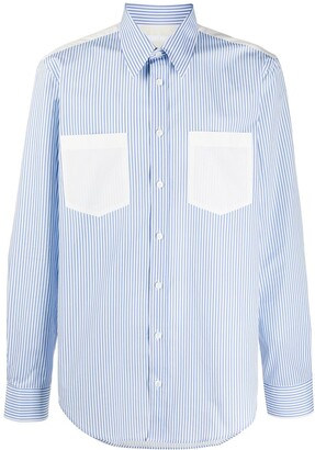 Helmut Lang Striped Cotton Long-Sleeved Shirt