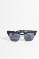 Erdem Glitter and Black Cat-Eye Sunglasses