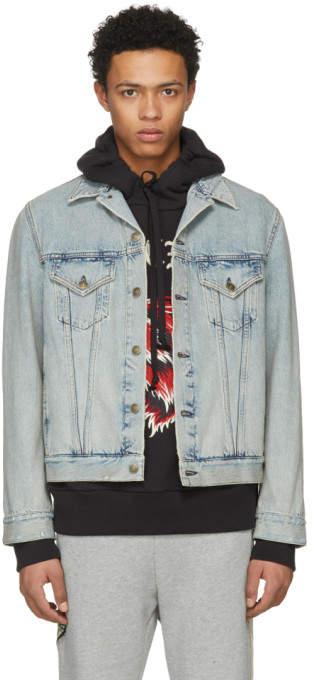Gucci Blue Guccy Teddy Bear Denim Jacket