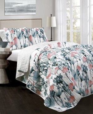 Lush Decor Zuri Flora 3-Pc Set King Quilt Set