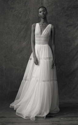 Maison Rabih Kayrouz Silk Sleeveless Cut Out Gown
