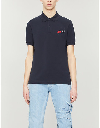 Fred Perry Brand-embroidered slim-fit cotton-pique polo shirt