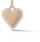 Walters Faith Dora Gold and Diamond Edge Heart Charm - Rose Gold