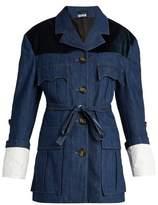 Miu Miu Velvet-yoke denim jacket