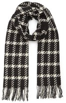Reiss Tempest - Checked Wool Scarf in White, Womens