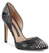 French Connection Maggie Studded Leather D'Orsay Pumps