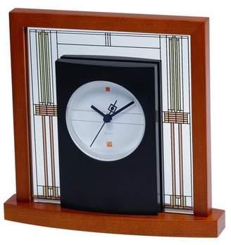 Bulova Clocks B7756 Willits Cherry Finish Glass Table Clock with Numberless Dial