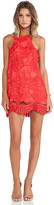 Lovers + Friends Caspian Shift Dress in Red