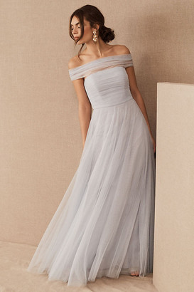 Jenny Yoo Ryder Convertible Dress By in Grey Size 16