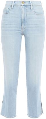 Frame Superstar High-rise Slim-leg Jeans
